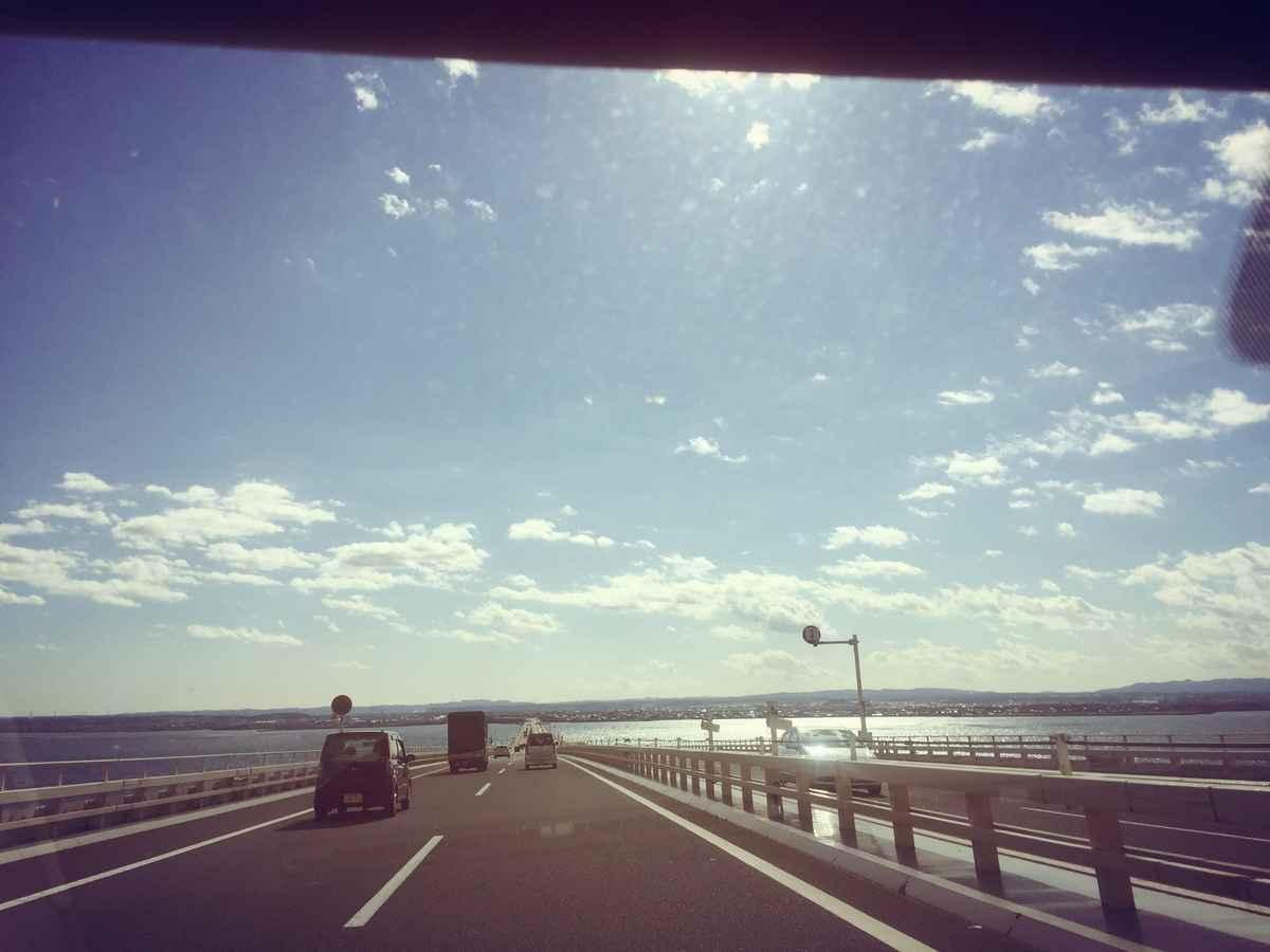 海を眺めながら出発−!