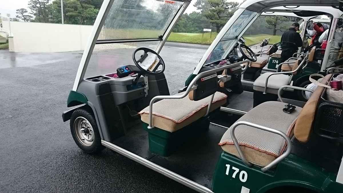 何も考えずにゴルフカートを利用していたけど、よく見るとハンドルは左でした!
