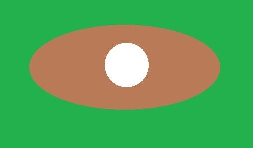 ディボットの跡の中央にボールがある場合の打ち方